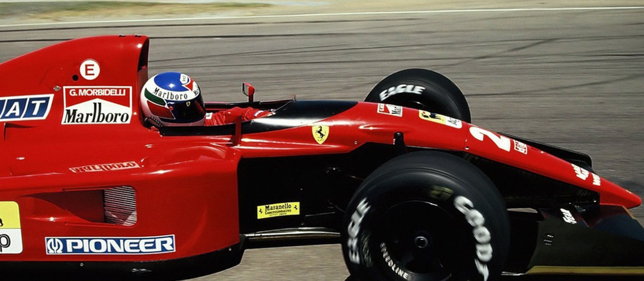 Gianni Morbidelli, a Ferrari test driver