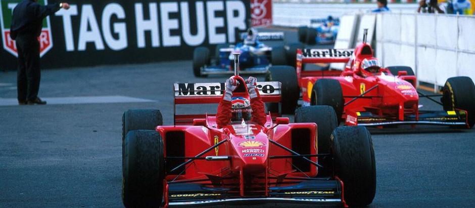 #17 1997: GP del Giappone, Schumacher vince e riapre il mondiale, Jacques è squalificato