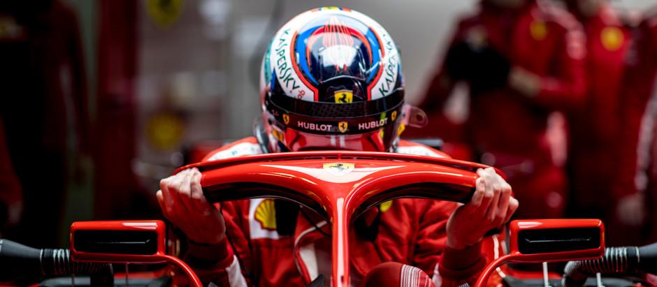 Kimi Raikkonen, the Iceman driving a Ferrari
