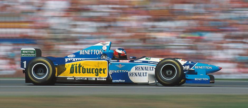 Benetton B195, la creatura di Rory Byrne che regala il doppio successo a Schumacher