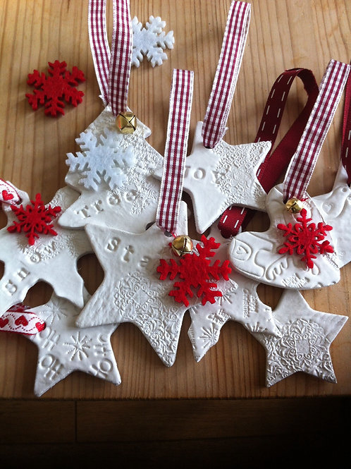 Make air-dried clay Christmas decorations with Bethan Ash BA016