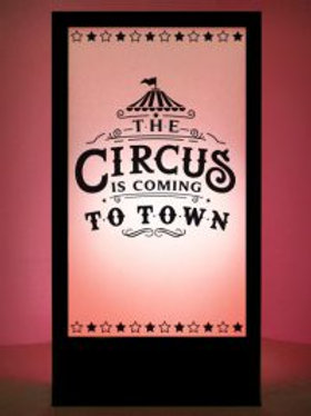 Carnival / Circus Silhouette Panel