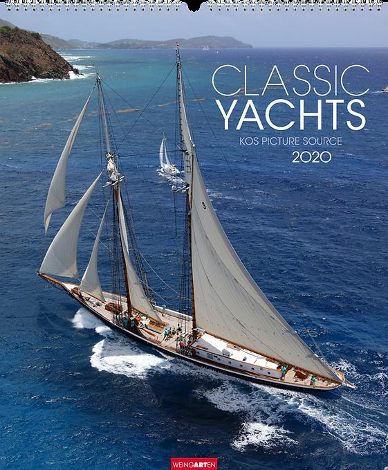 Kalendergestaltung, Classic Yachts 2020 Kalender,Kos picture source, Weingarten, Werbeagentur r2 Mediendesign, Verden
