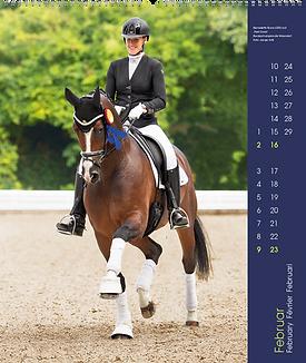 Kalendergestaltung, Dressur 2020 Kalender, Edition Boiselle, Werbeagentur r2 Mediendesign, Verden