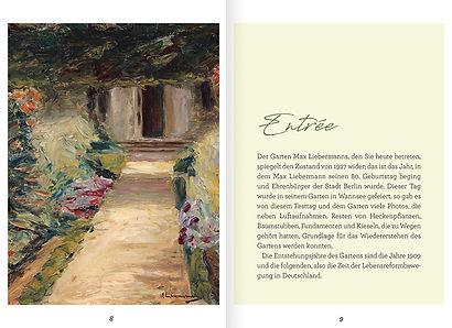 Buchgestaltung, Max Liebermanns Handschrift in seinem Garten, Ein Garten der Lebensreformbewegung, Elisabeth Sahlender, Werbeagentur r2 Ravenstein, Verden