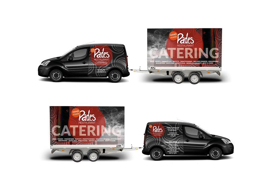 Print, Produktdesign, Pades Restaurant, Autofolierung, Werbeagentur r2 Mediendesign, Verden
