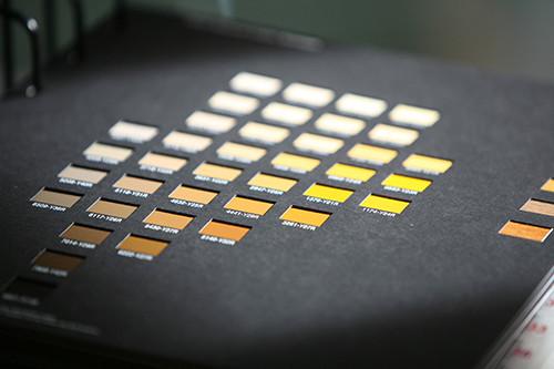 Farbkarte Gelb