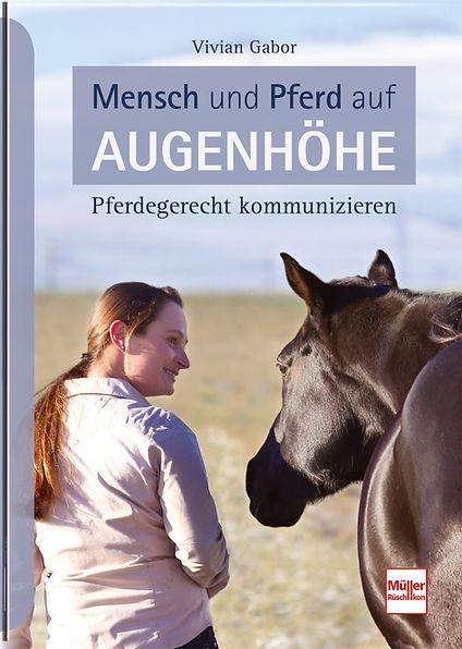 Buchgestaltung, Mensch und Pferd auf Augenhöhe, Pferdegerecht kommunizieren, Viviane Gabor, Werbeagentur r2 Ravenstein, Verden
