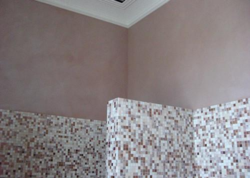 Badezimmer Wandanstrich