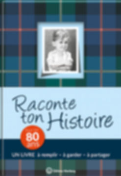 Buchgestaltung, Raconte ton Hostoire, Pour tes 80 ans, Un livre a remplir – a garder – a partager, Éditions Wartberg, Werbeagentur r2 Ravenstein, Verden