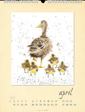 Kalendergestaltung, Country Life 2020 Kalender, Hannah Dale, Weingarten, Werbeagentur r2 Mediendesign, Verden