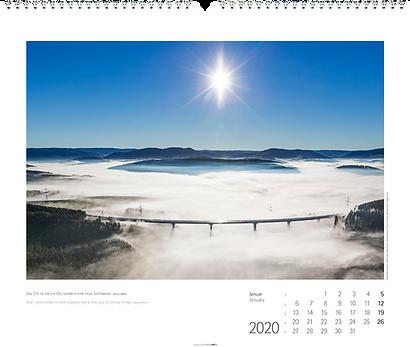 Kalendergestaltung, Brücken 2020 Kalender, Bridges, Weingarten, Werbeagentur r2 Mediendesign, Verden