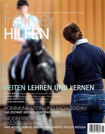 Magazin Gestaltung, Fein Hilfen, Reiten Lehren und Lernen, Werbeagentur r2 Ravenstein, Verden