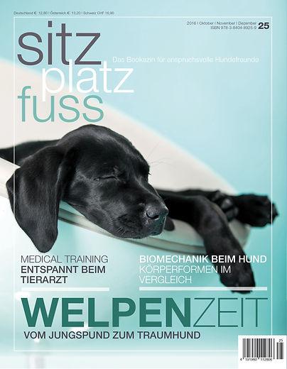 Magazin Gestaltung, SitzPlatzFuss, Welpenzeit vom Jungspund zum Traumhund, Werbeagentur r2 Ravenstein, Verden