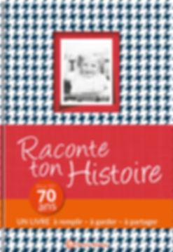 Buchgestaltung, Raconte ton Hostoire, Pour tes 70 ans, Un livre a remplir – a garder – a partager, Éditions Wartberg, Werbeagentur r2 Ravenstein, Verden