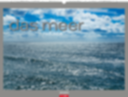 Kalendergestaltung, Das Meer 2020 Kalender, The Sea, Frank Krahmer, Weingarten, Werbeagentur r2 Mediendesign, Verden