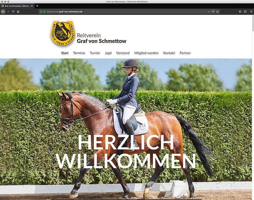 Webdesign, Reitverein Graf von Schmettow, Werbeagentur r2 Mediendesign, Verden