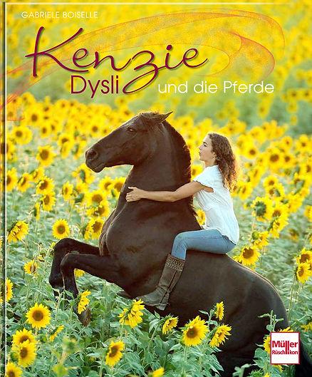 Buchgestaltung, Kenzie Dysli und die Pferde, Müller Rüschlikon Verlag, Werbeagentur r2 Ravenstein, Verden