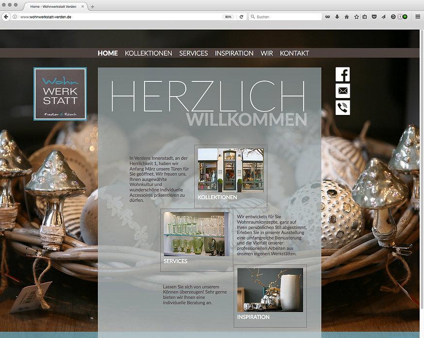 Webdesign, Wohnwerkstatt, Werbeagentur r2 Mediendesign, Verden