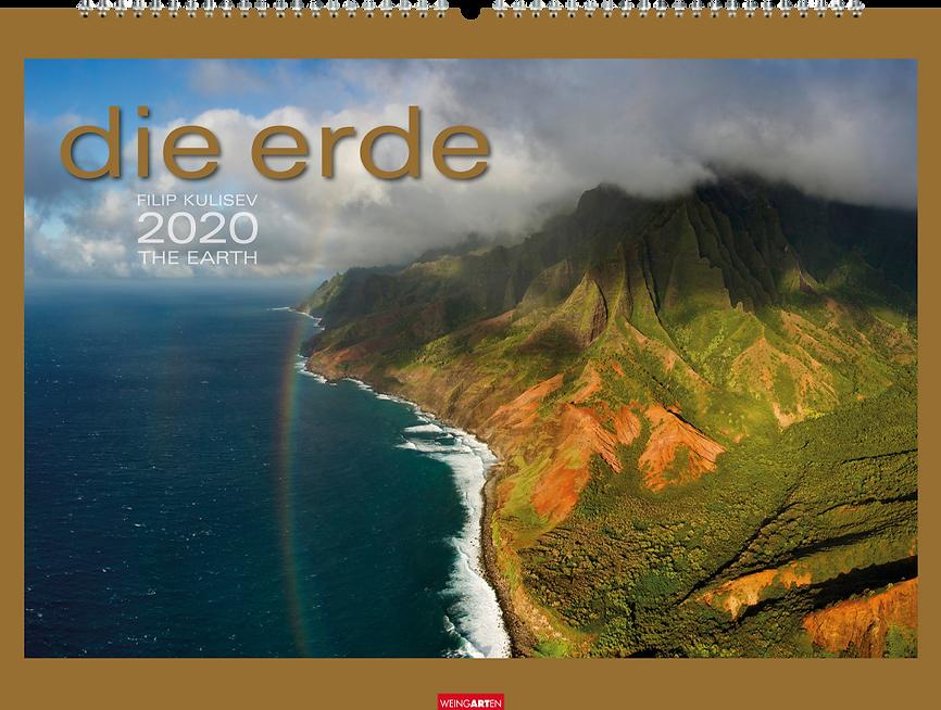 Kalendergestaltung, Die Erde 2020 Kalender, The Earth, Filip Kulisev, Weingarten, Werbeagentur r2 Mediendesign, Verden