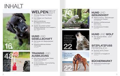 Magazin Gestaltung, SitzPlatzFuss, Leckerchen – Ja nein warum?, Werbeagentur r2 Ravenstein, Verden