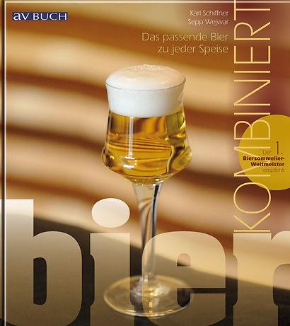 Buchgestaltung, Bier kombiniert, Das passende Bier zu jeder Speise, Karl Schiffner, Sepp Wejwar, Werbeagentur r2 Ravenstein, Verden