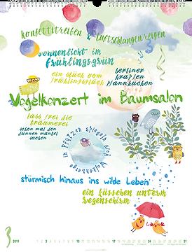 Kalendergestaltung, Ich will tanzen, lachen, glücklich sein! 2019 Kalender, Weingarten, Werbeagentur r2 Mediendesign, Verden