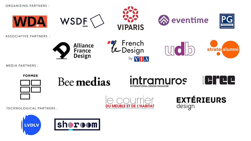 PARIS DESIGN SUMMIT 2019 - PARTENAIRES -