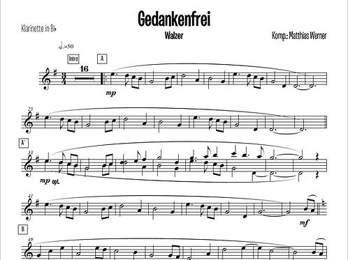 """""""Gedankenfrei"""" Download Septett Noten"""