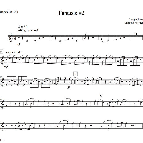 """Fantasie #2"" Download Quintett Noten"