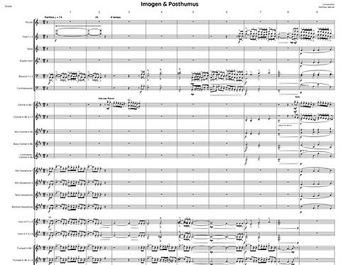 """""""Imogen & Posthumus - Fanfare"""" Download - Noten für Blasorchester"""