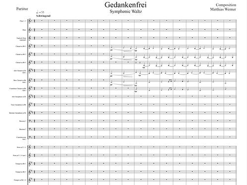 Gedankenfrei (Sinfonischer Walzer) DOWNLOAD - Noten für Blasorchester