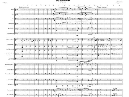 """Schlafwalzer """"Da daa da dii"""" Download - Noten für Blasorchester"""
