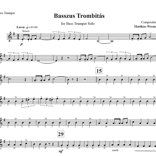 """Basszus Trombitás"" Download Septett Noten"