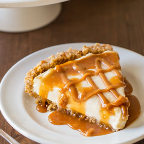 Caramel Sea Salt Pie - Nilla Wafer Crust