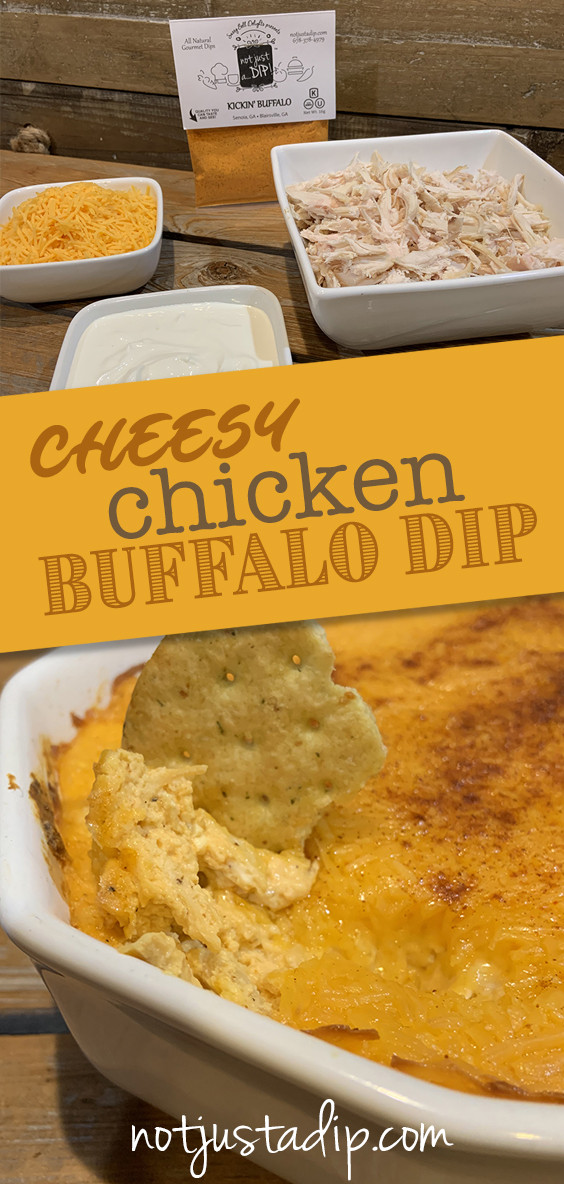 Our Kickin' Buffalo dip mix sets this warm cheesy dip recipe to a new level. It's the perfect comfort food that can make a meal in itself. It takes about 15 minutes to whip up and 30 minutes in the oven with just 5 ingredients.