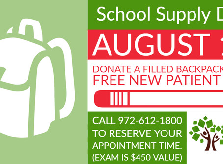 FREE EXAM with Backpack Donation