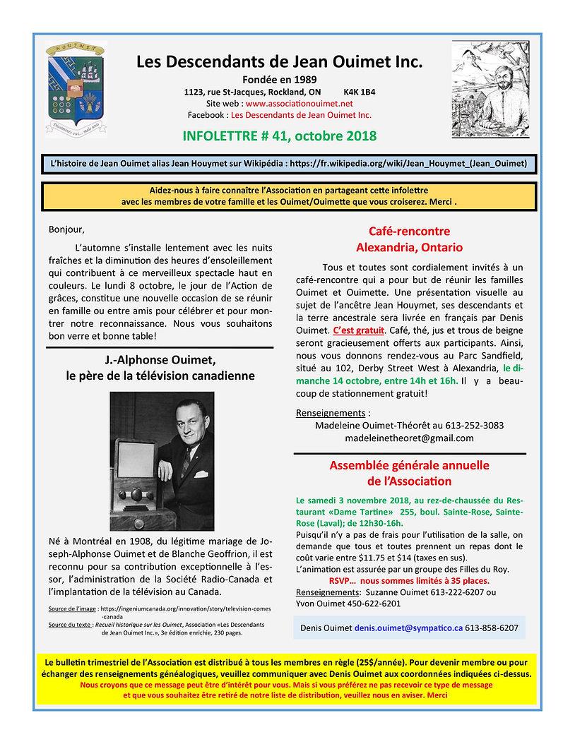 LDJOI Infolettre # 41 (octobre 2018) PDF