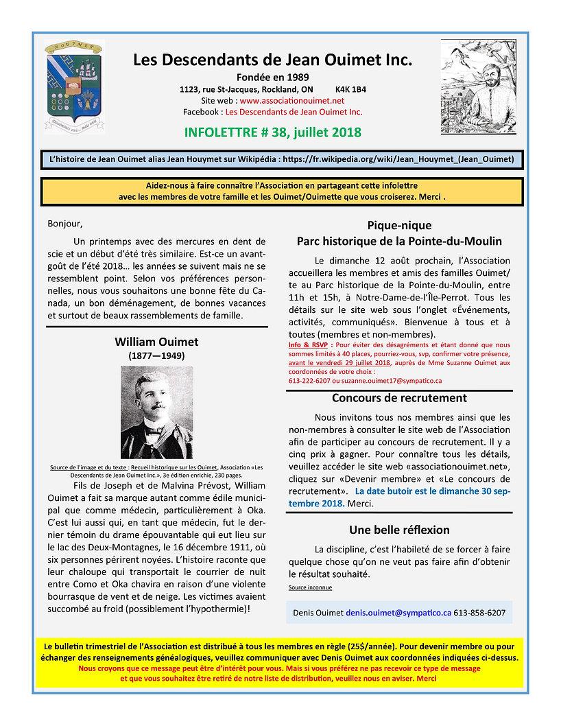 LDJOI Infolettre # 38 (juillet 2018) PDF