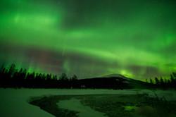 Aurora Borealis over Fell Kesänki