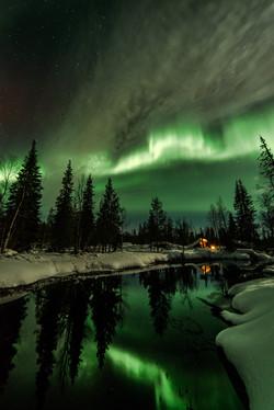 Aurora Borealis at Äkäsmylly