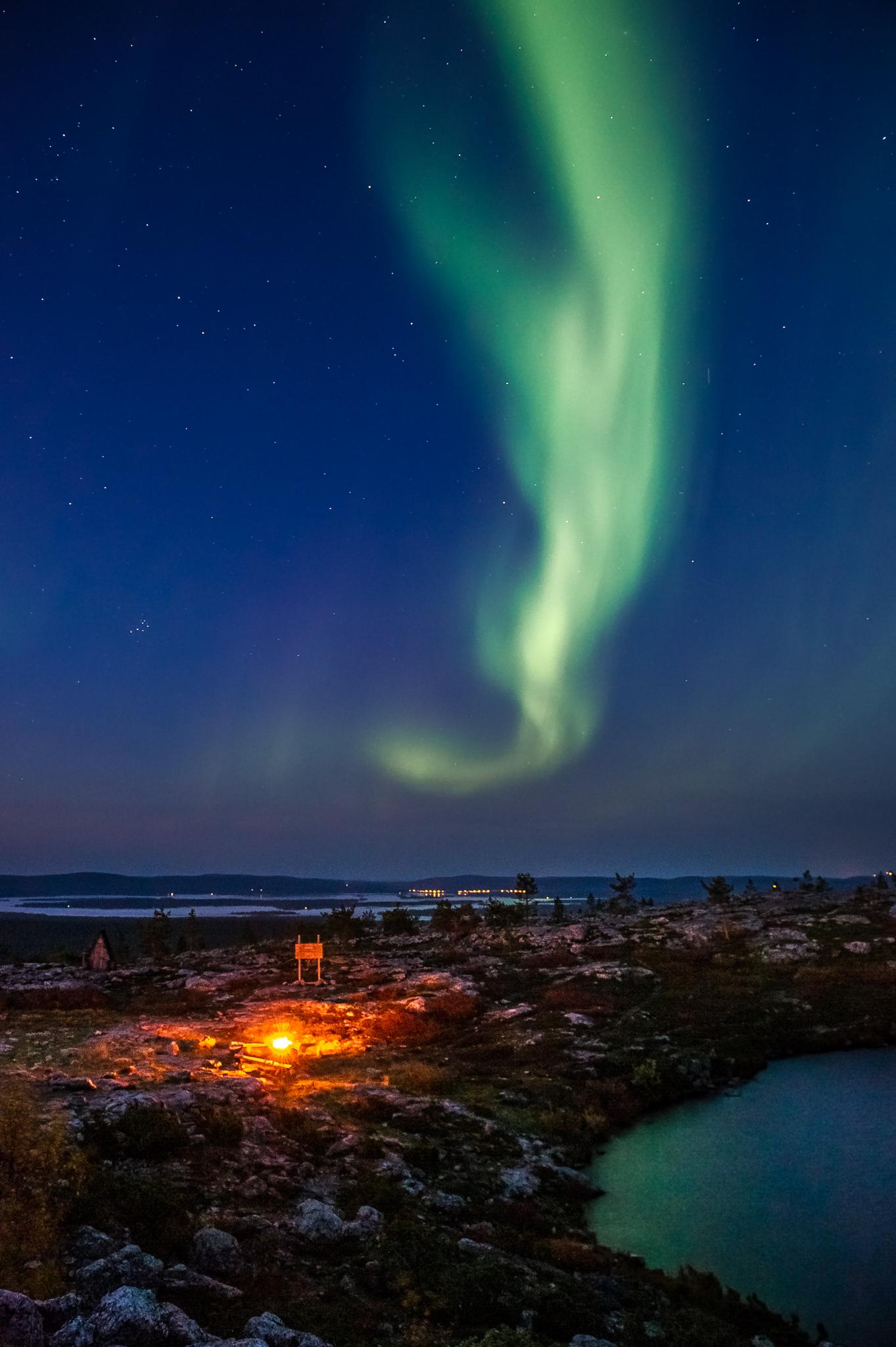 Aurora Borealis at Särkitunturi