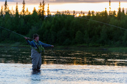 Fly Fishing at Muonionjoki