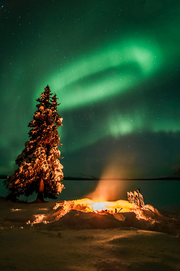 Best places to shoot Northern Lights in Western Lapland