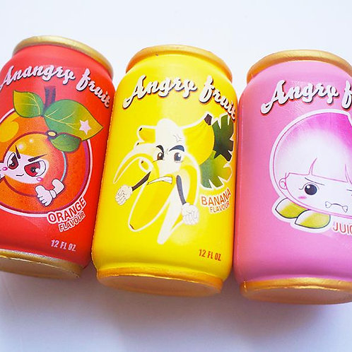 Angry Fruit Soda Can