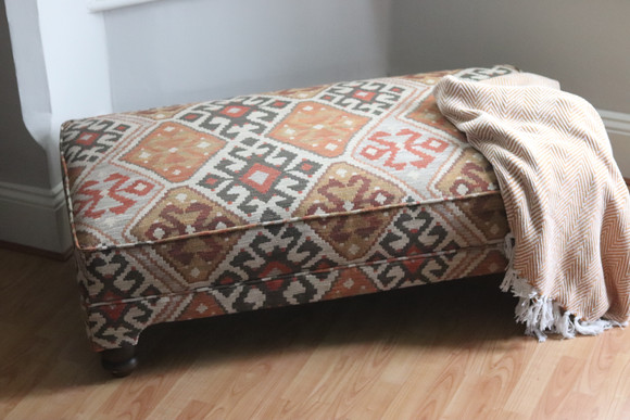 Bespoke ottoman in Kilim fabric
