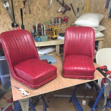 Traditional 1940s vintage Austin 'Nippy' seats
