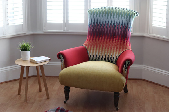 mexi print armchair recover