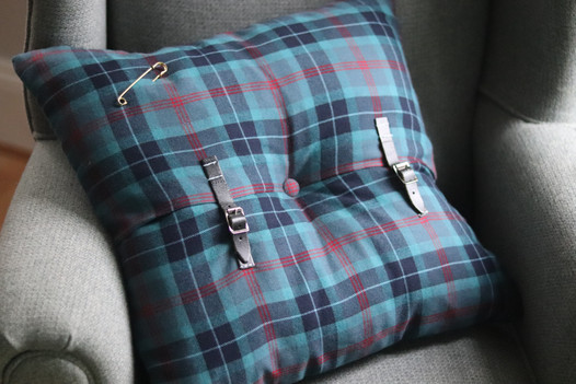 Bespoke scatter made from an authentic scottish kilt
