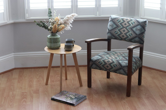 fabric = linwood fabric Adama in Aqua from the 'Prisma' collection